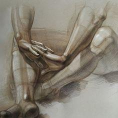 Начинать изучение рисования человека с анатомии нельзя. Это все равно, что начать освоение иностранного языка с изучения времен, не зная правил чтения и произношения и с нулевым словарным запасом. Художник должен понимать геометрию всех элементов и видеть, из каких составляющих складываются кисти, плечи или ноги.