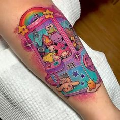 Crane UFO catcher game done by Lilian Raya! Do you recognize all characters in the machine? It's a Sanrio, Ghibli, Steven Universe mash up! Visit our website for more tattoo inspiration! Dope Tattoos, Badass Tattoos, Pretty Tattoos, Mini Tattoos, Body Art Tattoos, Small Tattoos, Sleeve Tattoos, Tattoos For Guys, Tattoos For Women