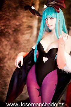 Morrigan cosplay from Darkstalkers by Morganita86.deviantart.com on @DeviantArt