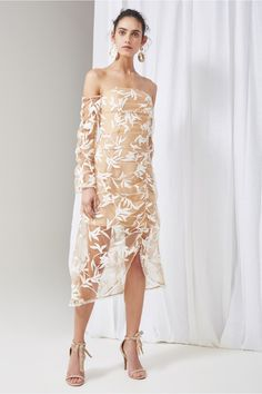 KEEPSAKE Fast Lanes Long Sleeve Midi Dress. #keepsake #cloth #