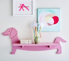 Dachshund Shelf -- paint gold
