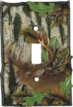 Deer Single Light Switch Cover