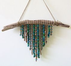 Beach Boho Decor.  Beach Boho Driftwood Wall Hanging by SALTEDblonde on Etsy