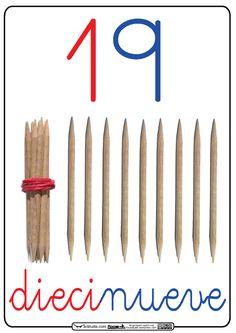 Una vez vistos los números del 1 al 10 (hace varios meses), vimos con nuestro alumnado la familia del 10 . Los trabajamos con palillos uno...