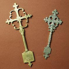 2 X Croix Orthodoxe Copte DE Benediction Ethiopienne Afrique Ethiopie ART | eBay