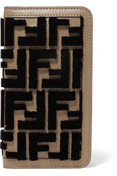 54a3dfde686 Fendi - Flocked leather iPhone X case