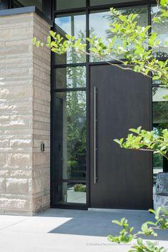 Featured Project: Sandy Cove, West Vancouver at Bradford Decorative Hardware Modern Entrance Door, Modern Exterior Doors, Modern Front Door, House Front Door, Front Door Design, House Entrance, Entrance Doors, Exterior Design, Industrial Front Doors