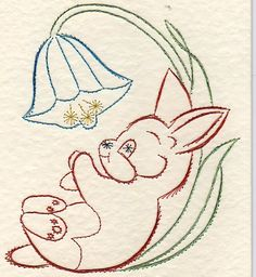 Card from Jackie Embroidery Cards, Embroidery Patterns, Hand Embroidery, Diy And Crafts, Paper Crafts, Paper Animals, Parchment Craft, Thread Art, Kirigami