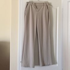 Ladies cream colored slacks Charter club size 8. Front/side pockets, back pockets. Unlined slacks. Machine wash and dry. Very good condition. Belt loops. Front double button (so can be worn with or without a belt) Charter Club Pants Trousers