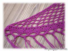 lhhy (lo he hecho yo): Otra forma de disfrutar el crochet: mantoncillos de flamenca. Crochet Shawl, Diy Crochet, Crochet Top, Knitted Cape, Crochet Decoration, Diy Projects To Try, Crochet Clothes, Needlework, Free Pattern