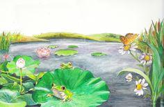 연못 (교재 펼침그림)