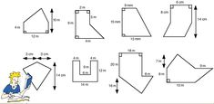 ... of Polygons Worksheets Free | Calculating the area of composite shapes