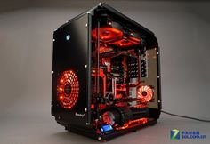 That's a nice case Gaming Pc Build, Computer Build, Gaming Pcs, Computer Case, Gaming Computer, Pc Cases, High Tech Gadgets, Cool Gadgets, Best Gaming Setup