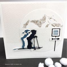 papierZART : hier geht's lang, Jungs, Skifahrer, Kinderspaß, Berge, Schnee, Gutscheinkarte, Cardmaking, Skiing, Snow, Alexandra Renke, aRTeam