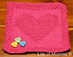 Well Valentine's Day is come and gone and so is the chocolate, but the dishcloths are still here and are used all year long at my house. I wanted to share with you my last heart dishcloth for the s...