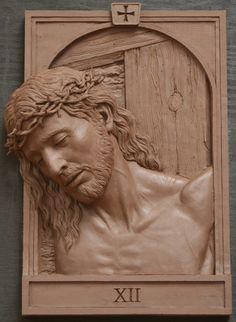 Fourteen Stations of the Cross Sculpture,Catholic Art,Koh-Varilla Guild Chicago Christian Symbols, Christian Art, Religious Gifts, Religious Art, Wood Carving Art, Wood Art, Wood Sculpture, Sculptures, Cross Art