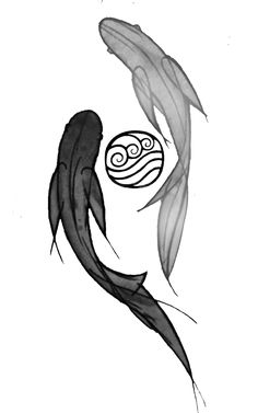 yin yang and then the water tribe symbol to represent balance and change.Subtle yin yang and then the water tribe symbol to represent balance and change. Avatar Tattoo, Ying Y Yang, Yin Yang Koi, Water Bender, Water Symbol, Avatar World, Water Tribe, Avatar The Last Airbender Art, Team Avatar