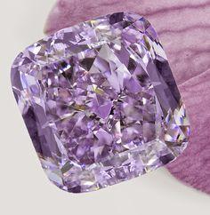 "The ""Purple Orchid"" diamond, close up."