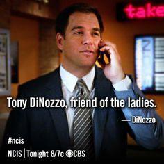Tony DiNozzo, friend of the ladies.