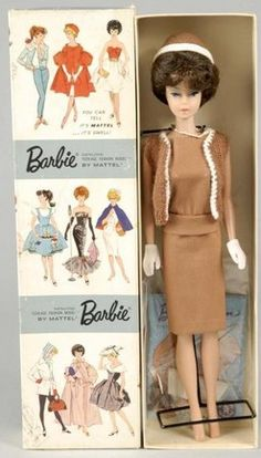 Barbie Doll; Bubble Cut, Brunette, Sorority Meeting Attire, 11 inch.