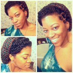 two-strand twists, bantu knots & hat