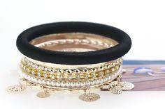 Stylish Wave Cloth Charm Black Bracelets for Women http://www.eozy.com/stylish-wave-cloth-charm-black-bracelets-for-women.html