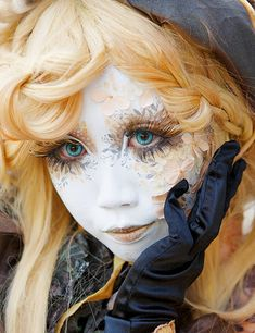 Shironuri, arte en maquillaje blanco, popular ahora en Harajuku