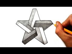 How to draw an impossible star (+playlist) desenhos a lápis simples, arte m Illusion Kunst, Illusion Drawings, 3d Drawings, Illusion Art, Geometric Shapes Drawing, Geometric Art, Impossible Shapes, Impossible Triangle, Drawing Stars