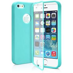 iPhone 5S Case, MagicMobile® Ultra Slim Thin Wrap-Up Dust Resistant Hybrid Fitted Hard TPU Protective Full Body Soft Fit Cover for Girls for Women with Built-In Touch Screen Protector [ Color: Turquoise/Tiffany Blue]
