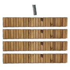 Design Craft MIllworks 5-1/2 in. x 12 ft. Wood Lawn Edging Cedar Stained (4-Pack)-50002 at The Home Depot