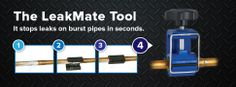 Burst-Pipe-Repair-LeakMate-03 #fixleak #repairwaterleak #copperpipe @LeakmateMate.com