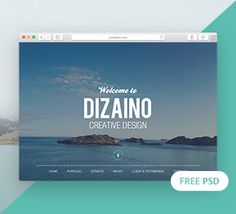 DIZAINO – One Page Free PSD Template