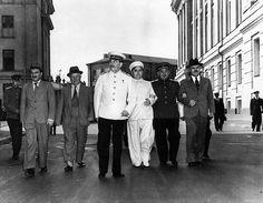 Stalin, Georgi Malenkov, Lavrenti Beria y Vyacheslav Molotov
