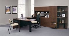 Modular Adaptabilities executive furniture configuration by Global Total Office at OfficeFurnitureDeals.com with free shipping. #ModularFurniture #ExecutiveFurniture