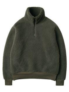 W CONCEPT : W컨셉 - [MODIFIED:모디파이드] M#1092 boa half-zip pullover (khaki)