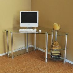 Have to have it. RTA Home and Office Corner Computer Desk - $315 @hayneedle