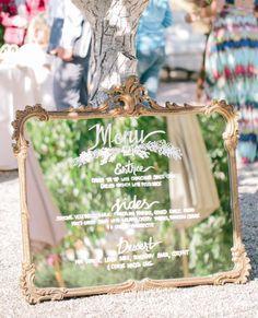 wedding reception menu idea; photo: Mirelle Carmichael