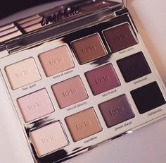 tarte tartelette make up palette Make Up Palette, Naked Palette, Eye Palette, Love Makeup, Makeup Inspo, Makeup Looks, Pretty Makeup, Makeup Ideas, Basic Makeup