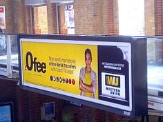 """Western Union advertising nice and clearly in Liverpool St. station that they offer overseas money transfers for """"£0 fee."""" They do not explain that they profit on the exchange rate markup using their """"fixed rates"""" and that this will cost you money."""