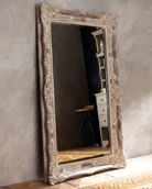 Antiqued French Floor Mirror