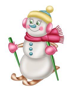 "Photo from album ""Клипарт Снеговики"" on Yandex. Christmas Clipart, Christmas Printables, Christmas Snowman, Christmas Holidays, Christmas Crafts, Christmas Ornaments, Snowman Clipart, Snowman Cards, Cute Snowman"