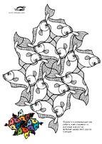 ESCHER Coloring Pages   krokotak
