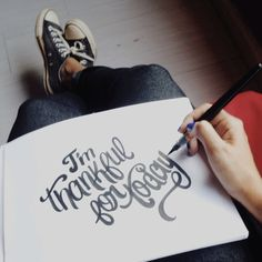 I'm thankful for today! #lettering #letteringdaily #handlettering #type #script #brush #pentel #vscocam Sketching Techniques, Logos Cards, Drop Cap, Typographic Design, Handwritten Fonts, Typography Inspiration, Typography Letters, Letter Art, Note To Self