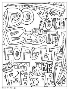 Free Printable Testing Coloring Pages And More At Classroom Doodles Try It Out In Your Classrrom Quote Coloring Pages Coloring Book Pages Coloring Pages