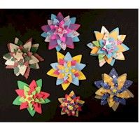 3-D Stars Craft,  Pretty Finished Product, Kids Summer