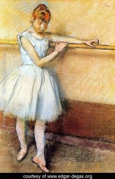 Dancer At The Barre - Edgar Degas - www.edgar-degas.org