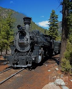 Title: Durango And Silverton Train Artist: Anne Lacy Medium: Digital Art - Digital Photograph Diesel Locomotive, Steam Locomotive, Silverton Train, Abandoned Castles, Abandoned Mansions, Abandoned Places, Old Steam Train, Choo Choo Train, Bonde