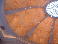 Fabric ceiling by Cranberry Bagel, via Flickr