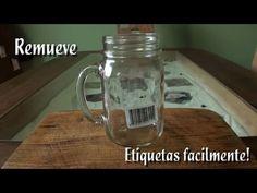 Como quitar etiquetas de los frascos de vidrio con aceite - YouTube