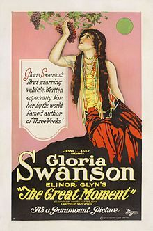 The Great Moment is a 1921 drama film directed by Sam Wood and starring Gloria Swanson, Alec B. Francis and Milton Sills. Swanson's first of many features for director Sam Wood. A lost film. Sir Edward Pelham, who has married a Russian Gypsy, fears that his daughter will follow in her mother's footsteps and arranges a marriage with her cousin, whom she does not love.